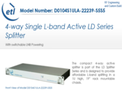 ETL Systems L-Band Splitter